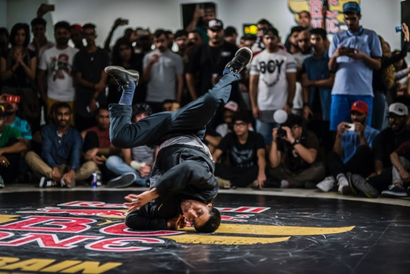 Victor performs at Red Bull BC One Bahrain Cypher 2016 in Malja Bahrain on 19 of August 2016 in Amwaj Islands, Kingdom of Bahrain. Photo courtesy of Red Bull BC ONE. Used with permission.