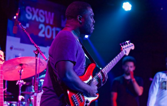 Derrick Hodge // Robert Glasper & Friends // Heard's Music + Tech Mash-up presented by SPIN, VIBE and Sterogum @ Mazda Studdio at Empire Garage // SXSW 3/13/2017. Photo by Derrick K. Lee, Esq. (@Methodman13) for www.BlurredCulture.com.