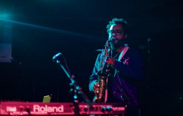 Terrace Martin // Robert Glasper & Friends // Heard's Music + Tech Mash-up presented by SPIN, VIBE and Sterogum @ Mazda Studdio at Empire Garage // SXSW 3/13/2017. Photo by Derrick K. Lee, Esq. (@Methodman13) for www.BlurredCulture.com.