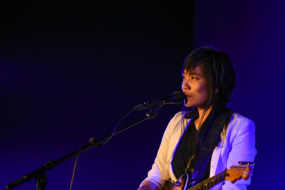 Thao Nguyen @ The Masonic Temple at Hollywood Forever 3/17/17. Photo by Constantin Preda (@ctpredaportraits) for www.BlurredCulture.com.