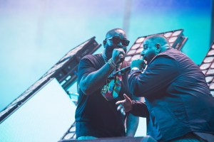 Rick Ross w/ DJ Khaled @ Coachella 4/16/17. Photo by Greg Noire. Courtesy of Coachella. Used with permission.
