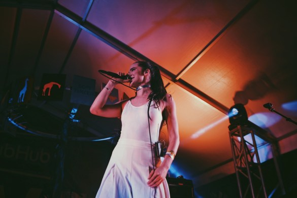 Sofi Tukker // 3/16/2017 at StubHub Live: The Sound Stage for Culture Collide at Banger's // SXSW 2017 // Photo by Marina Rose (@MarinaRose7) for www.BlurredCulture.com.
