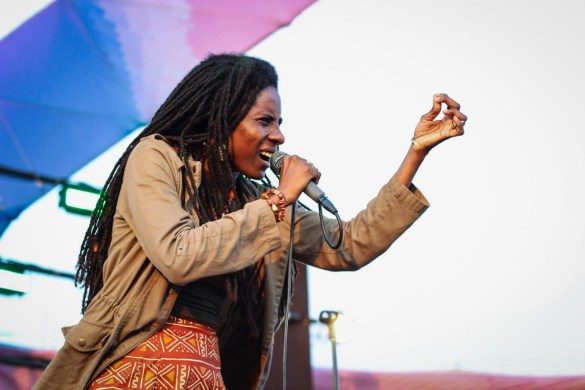 Jah9 at Santa Monica Pier's Twilight Concerts 7/13/17. Photo by Christian Hill (@ChristianHillPhotos) for www.BlurredCulture.com.