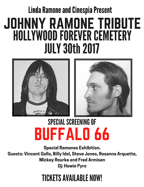 Johnny Ramone Tribute @ Hollywood Forever Cemetery Flyer