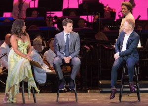 "Vanessa Williams, Jonathan Groff and Jesse Tyler Ferguson at ""Sondheim on Sondheim"" @ The Hollywood Bowl 7/23/17. Photos by Craig T. Mathew and Greg Grudt/Mathew Imaging. Used with permission."