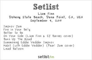 Liam Finn @ The Ohana Fest 9/9/17. Setlist.