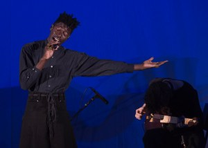 Moses Sumney at The Hollywood Bowl 9/24/17. Photo by Greg Grudt/Mathew Imaging. Used with permission.