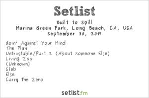 Built To Spill at Music Tastes Good 2017 9/30/17. Setlist.