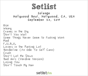 Solange at The Hollywood Bowl 9/24/17. Setlist.