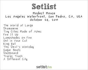 Modest Mouse at The Growlers Six 10/28/17. Setlist.