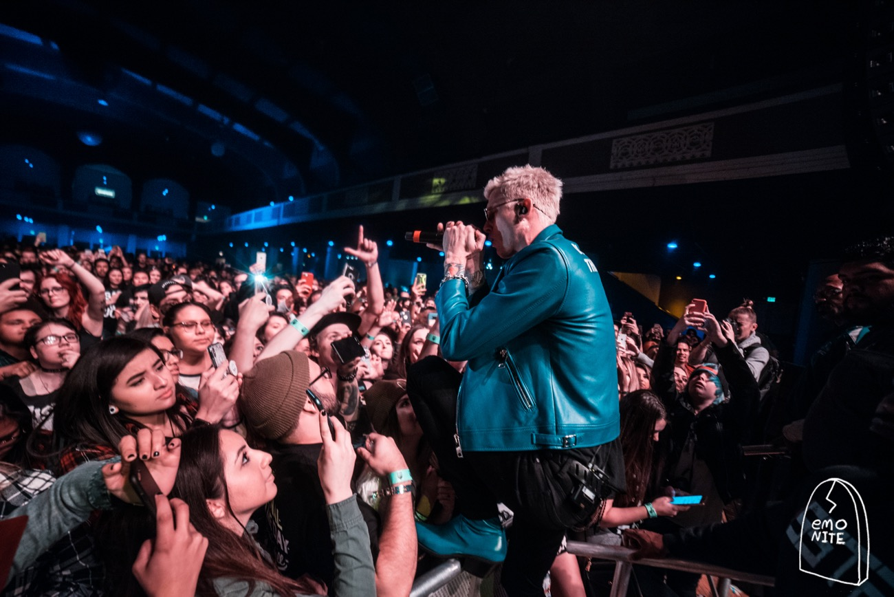 Machine Gun Kelly @ Emo Nite Day @ Shrine Expo Hall 12/3/17. Photo by Grizzlee Martin. Used with permission.