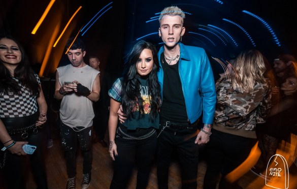 Demi Lovato & Machine Gun Kelly @ Emo Nite Day @ Shrine Expo Hall 12/3/17. Photo by Grizzlee Martin. Used with permission.