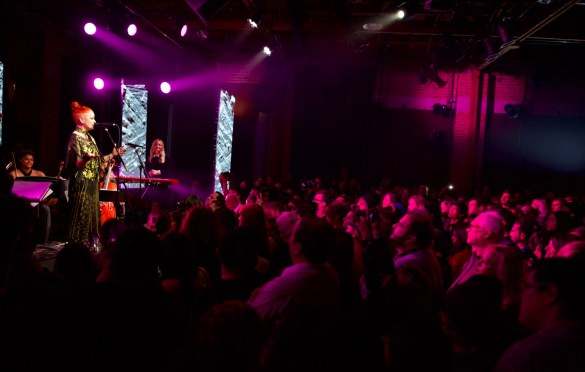 Shirley Manson for Girlschool @ Bootleg Theatre 2/3/18. Photo by Derrick K. Lee, Esq. (@Methodman13) for www.BlurredCulture.com.
