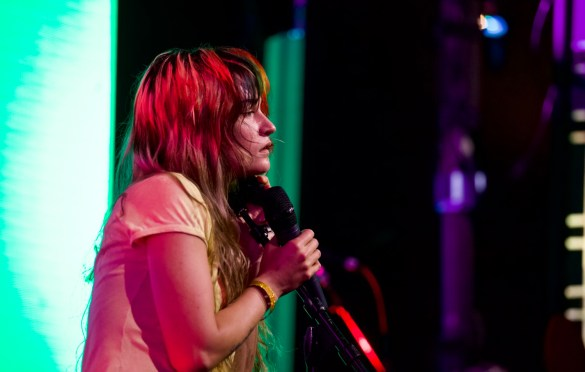 Lauren Ruth Ward for Girlschool @ Bootleg Theatre 2/4/18. Photo by Derrick K. Lee, Esq. (@Methodman13) for www.BlurredCulture.com.