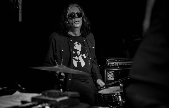 Bob Bert of Sonic Youth for Alan Vega's Tribute @ Bowery Electric 1/25/18. Photo by Vivian Wang (@Lithophyte) for www.BlurredCulture.com.