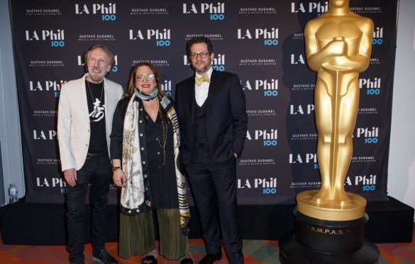 "Academy Governors Charles Bernstein (left), Laura Karpman (center), and Michael Giacchino prior to ""The Oscar Concert"" presented by the Academy of Motion Picture Arts and Sciences on Thursday, February 28, at the Walt Disney Concert Hall in Los Angeles. The Oscars® will be presented on Sunday, March 4, 2018, at the Dolby Theatre® in Hollywood, CA and televised live by the ABC Television Network."
