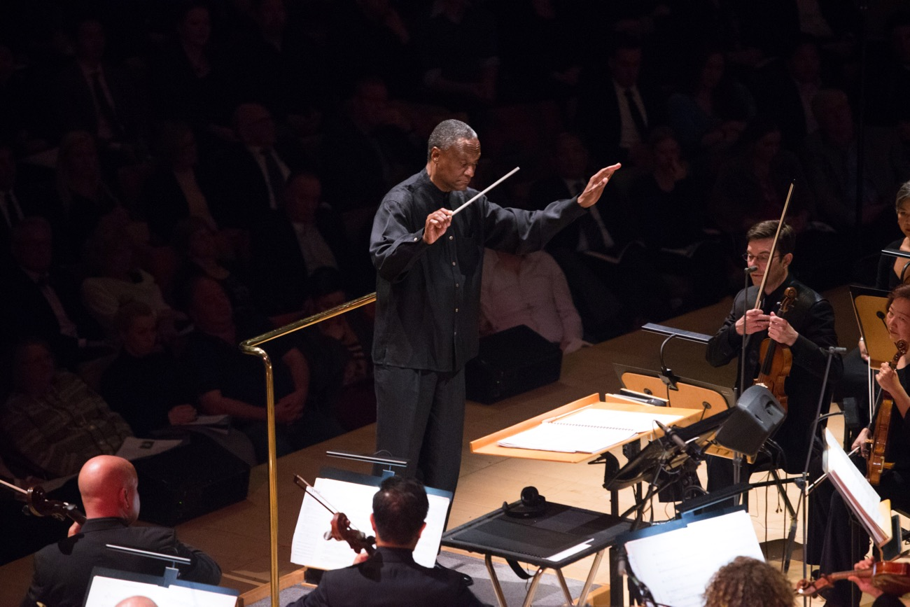 "Conductor Thomas Wilkins during ""The Oscar Concert"" presented by the Academy of Motion Picture Arts and Sciences on Thursday, February 28, at the Walt Disney Concert Hall in Los Angeles. The Oscars® will be presented on Sunday, March 4, 2018, at the Dolby Theatre® in Hollywood, CA and televised live by the ABC Television Network. Photo by Paul Hebert/ (C) A.M.P.A.S. Used with permission."