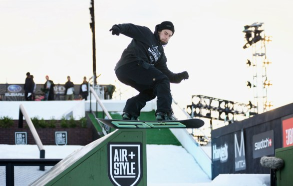 Snowboarding Tricks @ Air + Style 2018. Photo by Derrick K. Lee, Esq. (@Methodman13) for www.BlurredCulture.com.