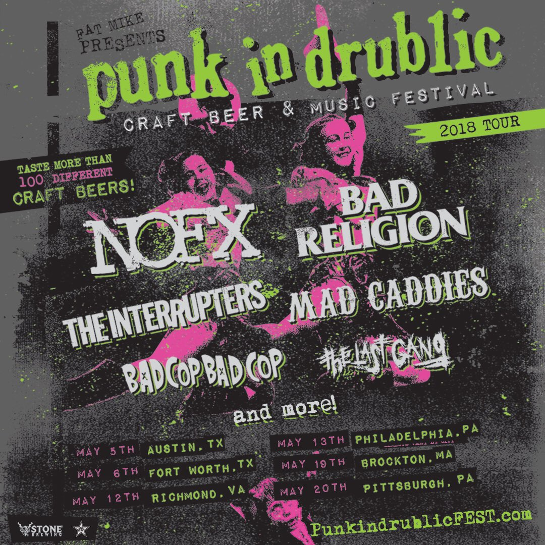 Punk in Drublic 2018 Tour