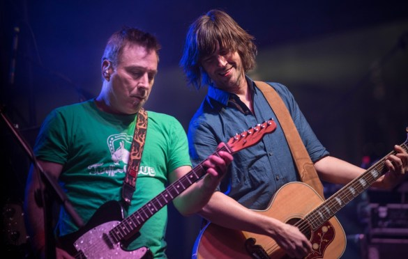 Ken Bethea and Rhett Miller of Old 97's @ Old 97's County Fair 4/14/18. Photo by Vivian Wang (@Lithophyte) for www.BlurredCulture.com.