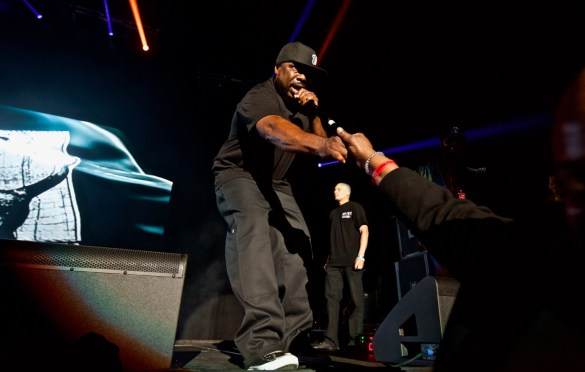 WC w/ Ice Cube for 93.5 KDAY's Krush Groove @ The Forum 4/21/18. Photo by Derrick K. Lee, Esq. (@Methodman13) for www.BlurredCulture.com.