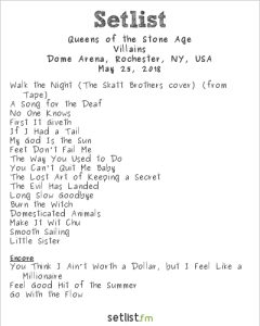 Queens of the Stone Age @ Dome Arena 5/25/18. Setlist.