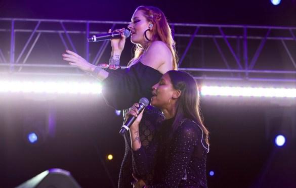 Icona Pop @ LA! Pride 6/9/18. Photo by Derrick K. Lee, Esq. (@Methodman13) for www.BlurredCulture.com.