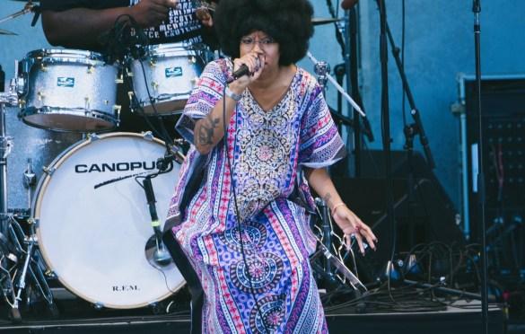 Georgia Anne Muldrow @ Hollywood Bowl 6/17/18. Photo by Steph Velastegui (@Stephtonesphoto) for www.BlurredCulture.com.