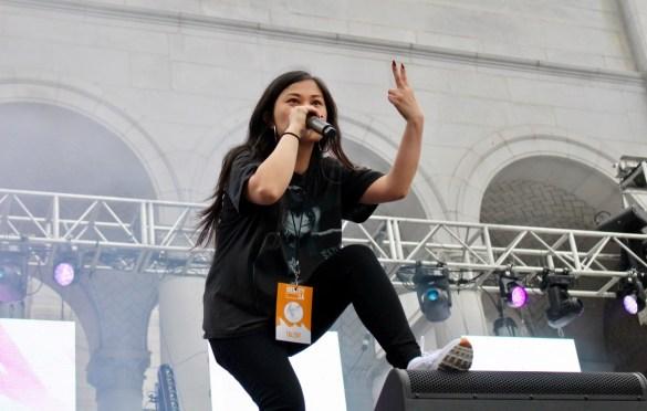 Ruby Ibarra at Identity L.A. 2018. Photo by Rachel An Cauilan (@Rachelcansea) for www.BlurredCulture.com.