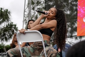 Saweetie @ Powerhouse 2018 @ The Glen Helen Amphitheater 5/12/18. Photo by Simran Singh (@dj.sim) for www.BlurredCulture.com.