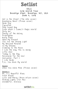 The EELS @ Brooklyn Steel 6/9/18. Setlist.