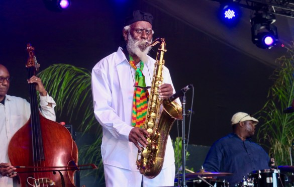 Pharoah Sanders @ Arroyo Seco Weekend 6/23/18. Photo by Derrick K. Lee, Esq. (@Methodman13) for www.BlurredCulture.com.
