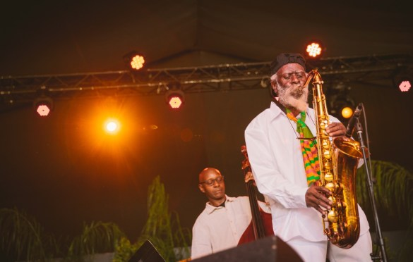 Pharoah Sanders @ Arroyo Seco Weekend 6/23/18. Photo courtesy of Goldenvoice. Used with permission.