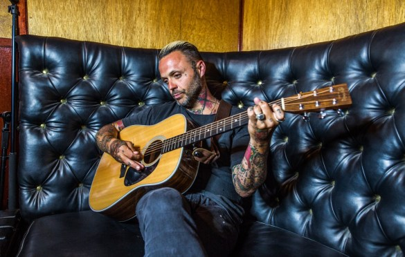 Justin Furstenfeld [Portrait] @ Hotel Cafe 7/19/18. Photo by Derrick K. Lee, Esq. (@Methodman13) for www.BlurredCulture.com.