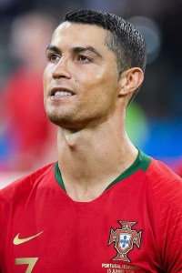 Cristiano Ronaldo with Portugal at the 2018 FIFA World Cup. CC BY-SA 3.0.