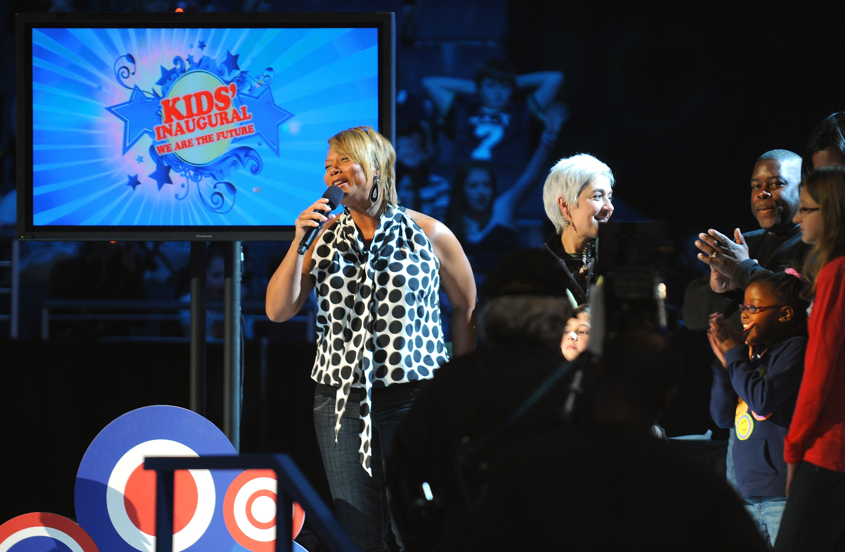 "Queen Latifah performing at the ""Kids Inaugural: We Are the Future"" concert in 2009. Photo by U.S. Navy Petty Officer 1st Class Mark O'Donald. Wikipedia Commons."