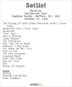 Metallica @ Keybank Center 10/27/18. Setlist.