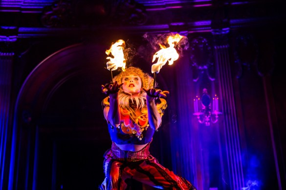 Lucent Dossier Experience (Fire) at KCRW's Masquerade Ball @ Historic Los Angeles Theatre 10/27/18. Photo by Derrick K. Lee, Esq. (@Methodman13) for www.BlurredCulture.com.