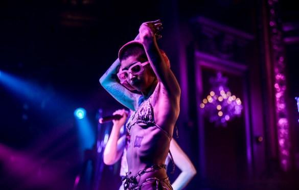 DJ Baby Uniq @ The Billy Ball at the Globe Theatre 11/30/18. Photo by Derrick K. Lee, Esq. (@Methodman13) for www.BlurredCulture.com.