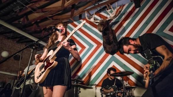 Ramonda Hammer for Bands In A Barbershop @ American Barbershop 1/12/19. Photo by Derrick K. Lee, Esq. (@Methodman13) for www.BlurredCulture.com.