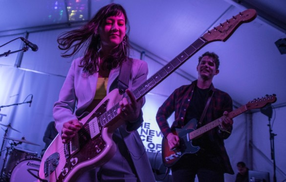 Japanese Breakfast @ Lustre Pearl for Fender 3/15/19. Photo by Mike Golembo (@Instalembo) for www.BlurredCulture.com.