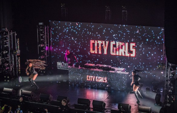 City Girls @ The Wellmont Theater 4/9/19. Photo by Dan Goloborodko (@golo_lifestyle) for www.BlurredCulture.com.
