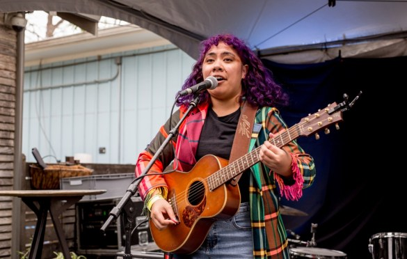 Fatai @ Lucille Patio Lounge for Australia House during SXSW 3/15/19. Photo by Derrick K. Lee, Esq (@Methodman13) for www.BlurredCulture.com.