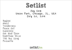 Jay Som @ Pitchfork Music Festival 7/20/19. Setlist.