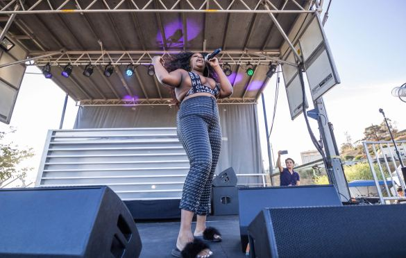 Cupcakke, YOLA DÍA @ L.A. Historic Park 8/18/19. Photo by Derrick K. Lee, Esq. (@Methodman13) for www.BlurredCulture.com.