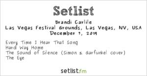Brandi Carlile @ Intersect Music Festival 12/7/19. Setlist.