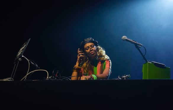 DJ Natasha Diggs @ Kings Theatre  2/20/20. Photo by Maeghan Donohue (@PlaceToHidePlaceToHustle) for www.BlurredCulture.com.