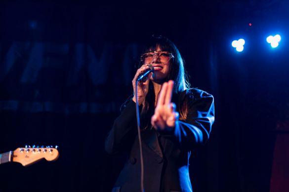 Hollis @ Bar Lubitsch for We Found New Music 7/8/21. Photo by Derrick K. Lee, Esq. (@Methodman13) for www.BlurredCulture.com.