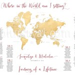 Travel Themed Wedding Printable Seating Charts