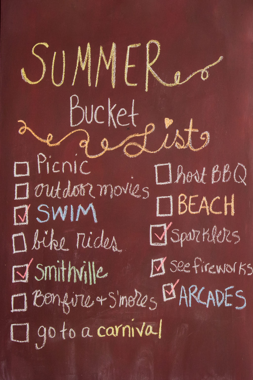 Summer 2017 Bucket List